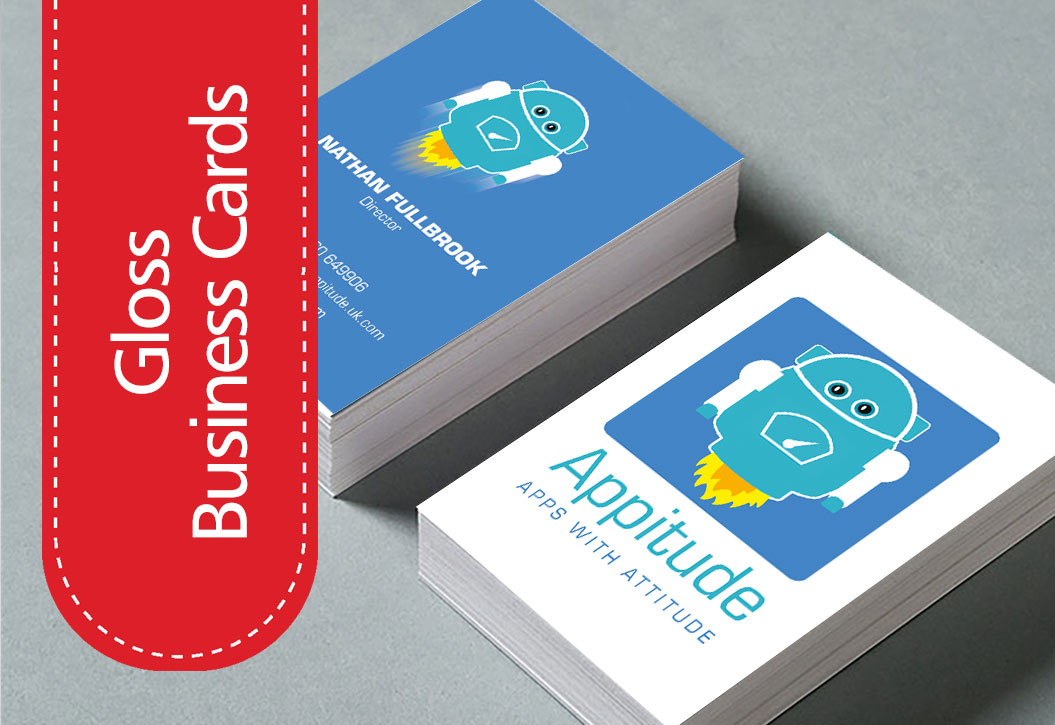 Glass laminated Business Cards printing