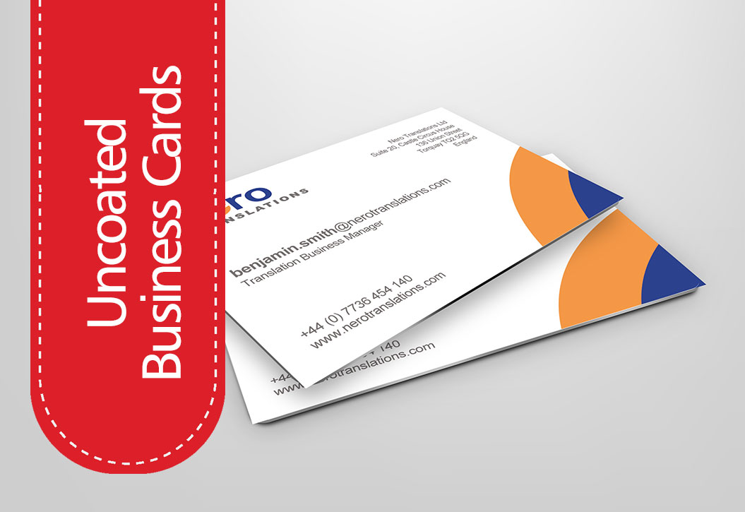 Uncoated Business Cards printing