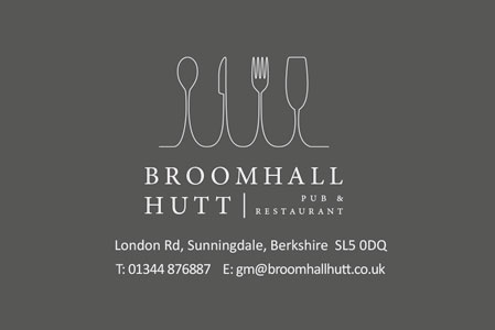 Broomhall Hutt Business Cards