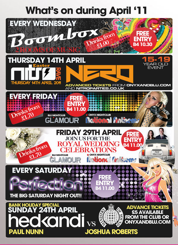 Nightclub A5 Flyers