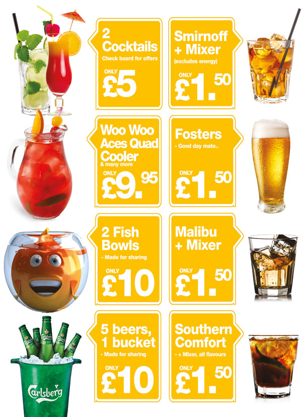 Drinks Offers A5 Flyer