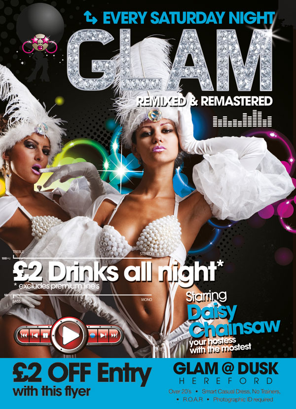 Glam A6 Flyers