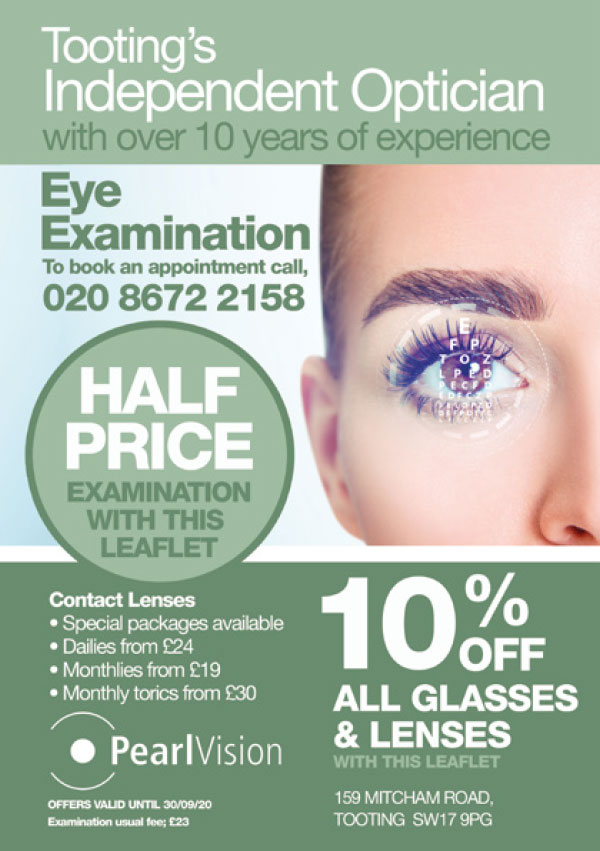 Optician Leaflet Printing and Design