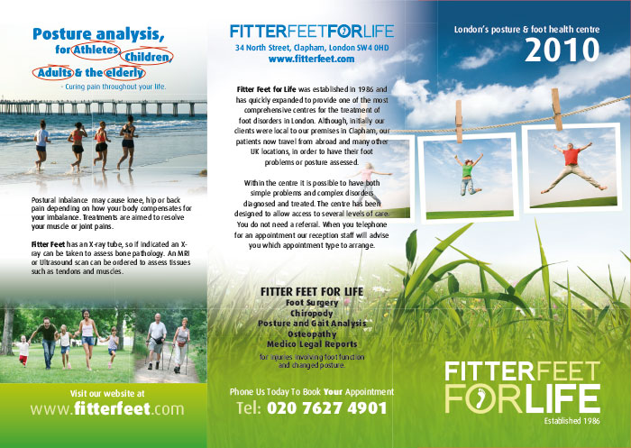 Chiropody Leaflet Printing and Design