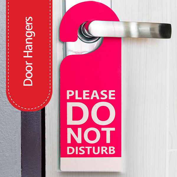 Hotel Door Hangers Printing and Design