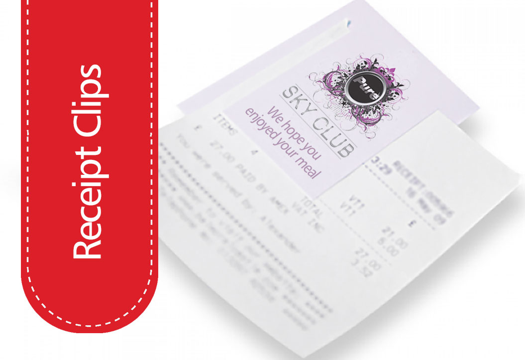 Restaurant and Bar Receipt Wallet printing