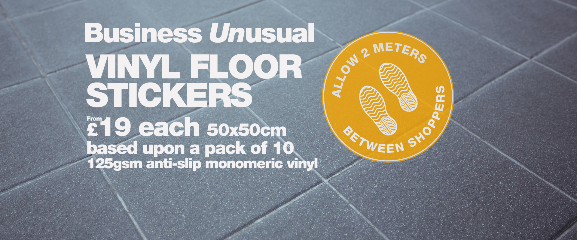 Floor vinyl signs  Cherwell