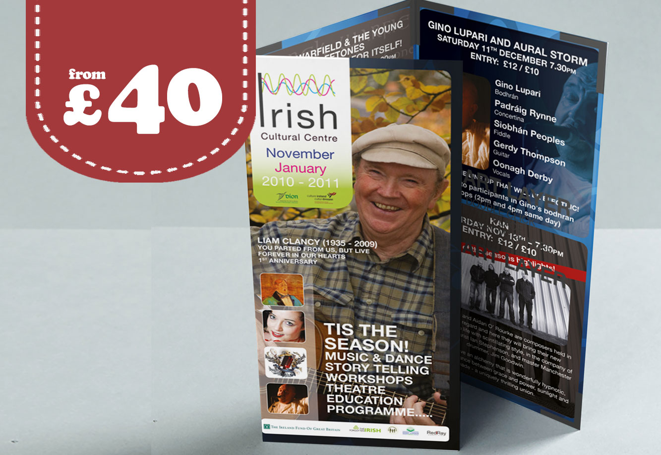 Folded Leaflet Printing and design Stevenage