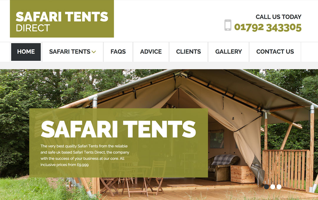 Camping & Glamping Website Design