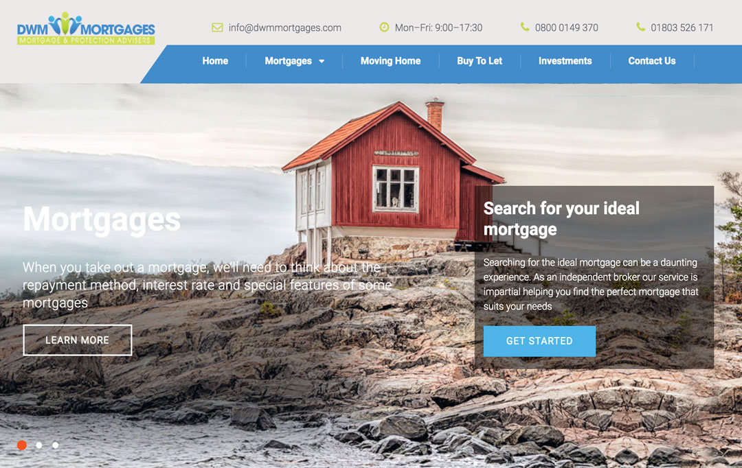 Mortgage Advisor Website Design