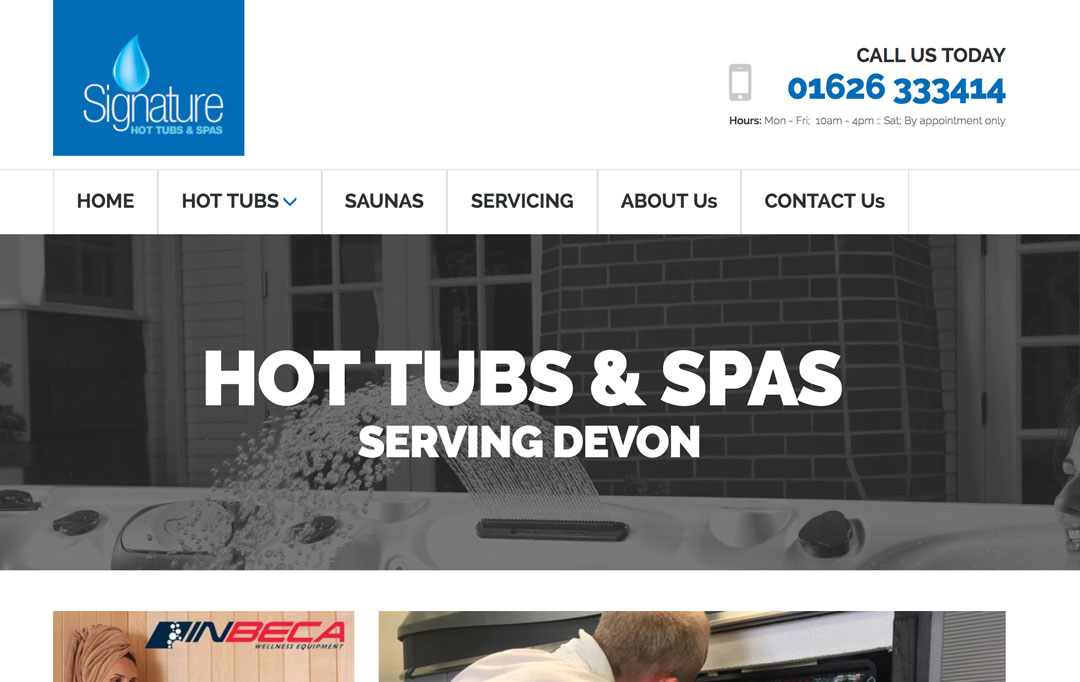 Hot Tub Website Design