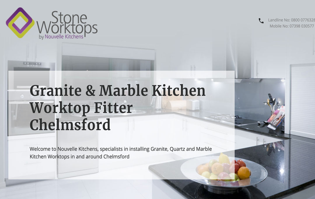 Marble Kitchen Worktop Website Design