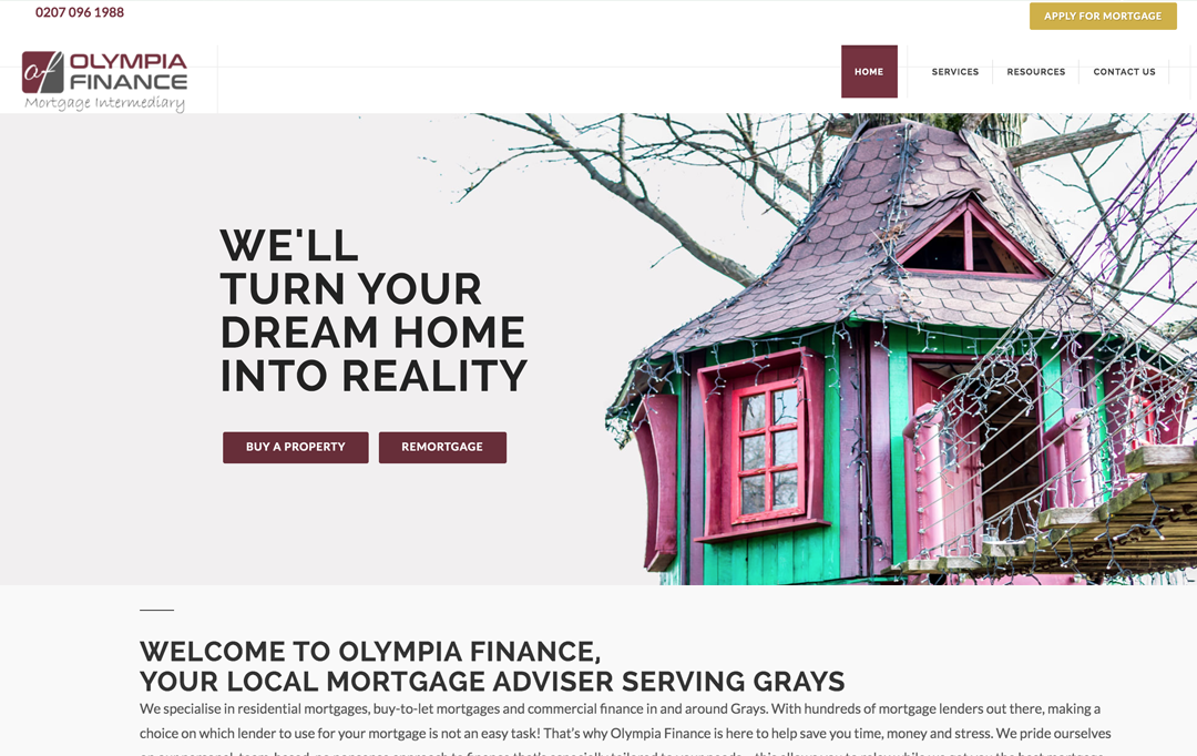 Mortgage Adviser Website Design
