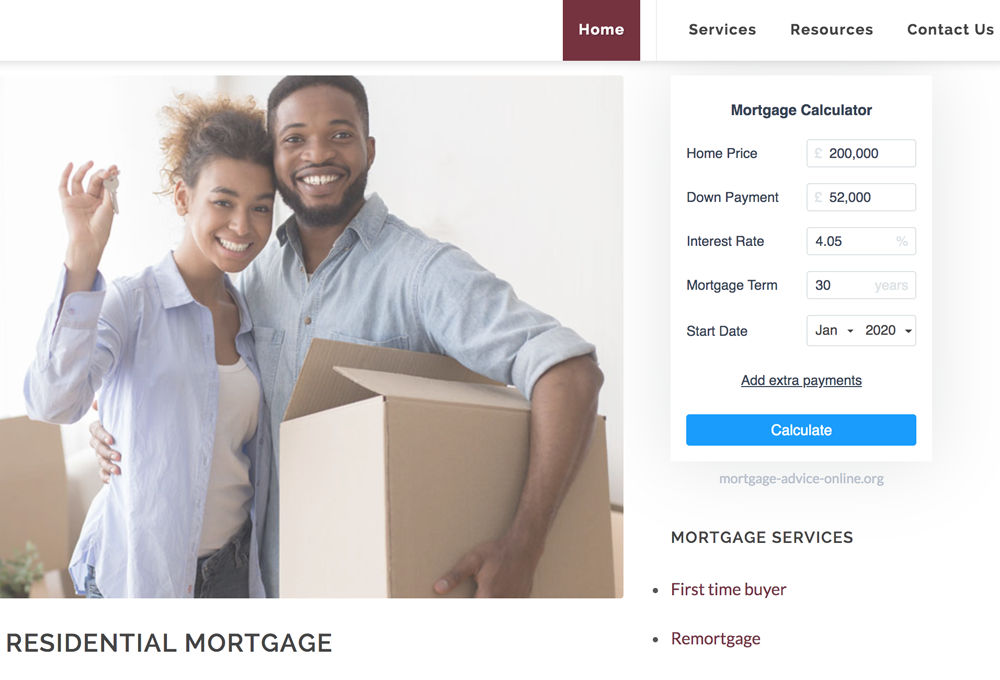 Mortgage Advisor Website Developer