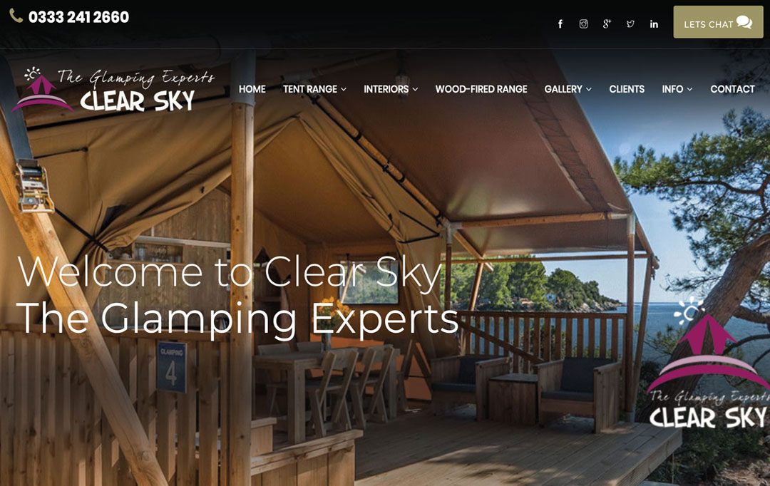 Camping Website Design