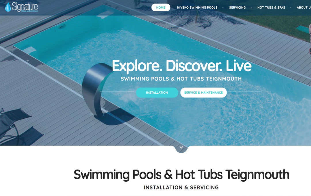 Swimming Pool Website Design